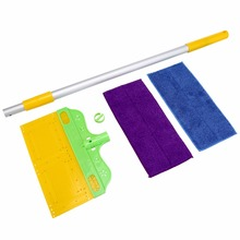 Universal Environmental Water Home Used Double Sided Mop Adjustable Aluminum Alloy Rod Flexible Household Floor Cleaning Tool
