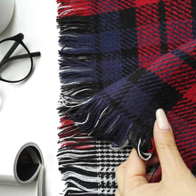 Winter Scarf Cashmere Scarf 190CM*58CM Lady Women's Blanket Long Check Plaid Tartan Scarf Wraps Shawl Stole Warm Scarves Red(China)