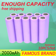 Golooloo 18650 2000mAh 13.7V Rechargeable Battery Purple [ Full Capcity ] assembly mobile power notebook batteries - ShenZhen HuaXin technology Co,.Ltd store