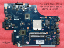 Free shipping For acer Aspire 5551G 5552 5552G 5551 Laptop Motherboard Integrated NEW75 LA-5912P MB.BL002.001 (MBBL002001)