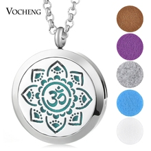 30mm Oil Scent Locket 316L Stainless Steel Magnetic diffuser jewelry Randomly Send 5pcs Oil Pads as Gift VA-417(China)