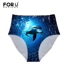 Buy FORUDESIGNS Animal Pattern Women Sexy Panties High Waist Underwear Woman Briefs Ladies Female Body Shaper Underpants Mujer