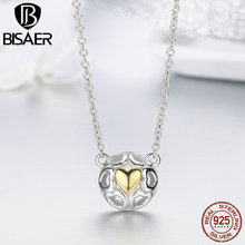 100% Real 925 Sterling Silver Love Openwork Heart Pendant Necklaces for Women Authentic Silver Fine Jewelry Gift GXN079