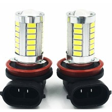 2pcs H11 33 SMD 5630 Car Led Turn Lights Fog Lamps Daytime Running Light 33SMD Auto Rear Reverse Bulbs White Red Blue