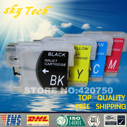[Empty] refill cartridge suit for Brother LC980/LC990/LC11/LC38/LC61/LC67/LC65/LC1100 ,suit for MFC-250C/290C,DCP-145C/165C/,etc<br><br>Aliexpress