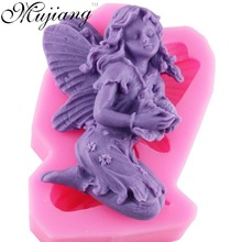 3D Angel Fairy Silicone Soap Mold Resin Clay Candle Molds Chocolate Fondant Cake Moulds Kitchen Baking Cake Tools CD263(China)