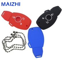 maizhi Mercedes Benz Fob Remote Case Smart W203 W211 CLK C E S Class Slk Cl Car Silicone Remote Key Fob Cover 3 BTNS