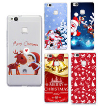 Christmas Case For Huawei Y5 II 2 For Huawei P8 Lite 2017 P8 Lite P9 Lite P10 Lite Santa Claus Soft Cover Phone Case Capa Fundas
