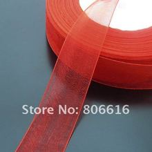 25MM 50Yard Red Silk Thread Ribbon Riband Band Woven Cords Hair Jewelry  Findings