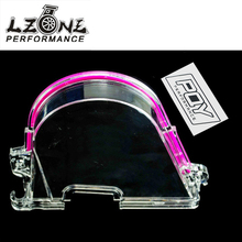 LZONE RACING - CLEAR CAM GEAR COVER TIMING BELT COVER TURBO CAM PULLEY WITH PQY STICKER FOR HONDA 96-00 EK JR6337(China)