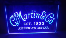Martin Guitars Acoustic Music  beer bar pub club 3d signs led neon light sign home decor shop crafts