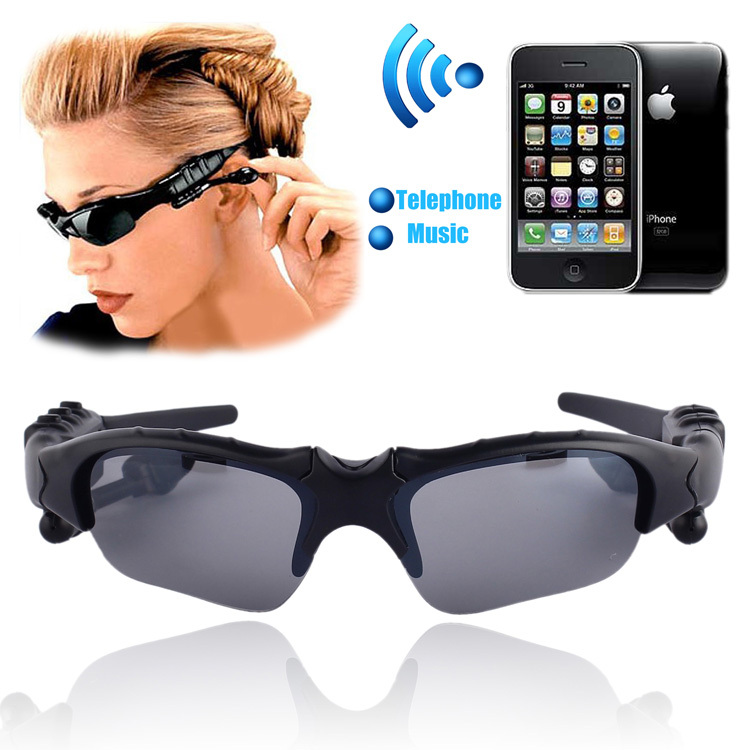 Sports Wireless Bluetooth 4.0 Glasses Headset handsfree earphone Polarized Driving Sunglasses mp3 Riding Eyes Glasses(China)
