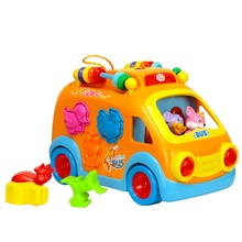 Educational Vehicle Toys Innovative Learning Electric Car Toys for Babies Brinquedos Bebe Happy Bus Toys Christmas Birthday Gi