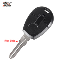 DANDKEY 10PCS/LOT Replacement Car Key Blank Case For Fiat Transponder Key Shell Free Shipping(China)