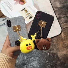 maosenguoji Small Korean style Cartoon cute doll Mobile Phone Case for iphone6 6s 6plus 7 7plus 8plus X fashion Couple case(China)