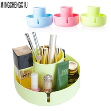 High Quality Multi-functional Round Bottom Make-up Organizer Desktop Storage Box Kitchen Bathroom Cosmetics Creative Storage Box