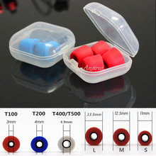 10pcs/5pairs T200/T500/T300/T100 (S M L) Caliber Ear Pads/cap foam eartips for in ear Headphones tips Sponge Headset accessories