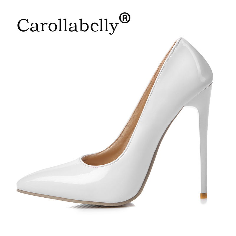 High Quality Sexy Women Pumps 10cm or 12cm High Heels Wedding Party Shoes PU or Suede Large Size 34-47<br>