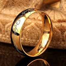 6mm One Ring Of Power The Lord Of Rings Silver Gold Black Hobbit 316l Stainless Steel Ring Men Women Fashion Male Jewelry(China)