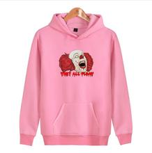 Stephen King's It hoodie Men Women autumn Cotton Printed Pennywise Sweatshirts for Men Women Coat Clothing Casual(China)