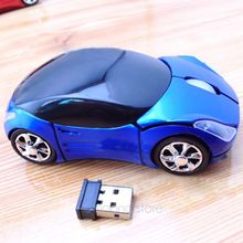 USB 2.4GH Souris Optique Voiture Style Wireless Car USB2.0 Optical Mouse Mice For Laptop PC Computer