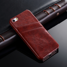 Toraise For iPhone SE Case Vintage Style Wax PU Leather With Card Holder Back Cover Case For Apple iPhone 5s 5 Bag Fundas Capa(China)