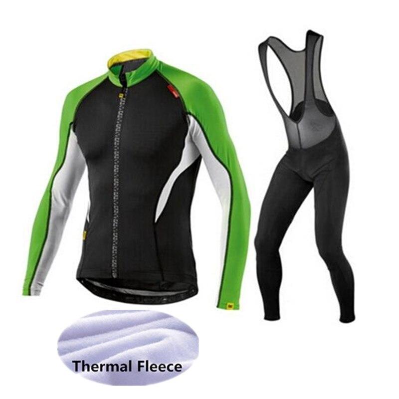 Mavic 2017 Cycling Jerseys Cycling Set Winter Thermal Fleece Long Sleeves Racing MTB Suit Maillot Bike Clothing Ropa Ciclismo <br>