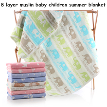 "8 layers Organic Cotton Baby Blanket  Newborn Soft baby  quilt for  crib stroller car aircraft 110cmX110cm(43""X43"")"