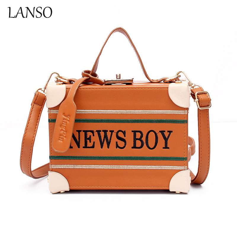 Winter New Embroidery Small Square Package Bag European and American Fashion Lock Buckle Handbag Shoulder Diagonal Messenger Bag<br>