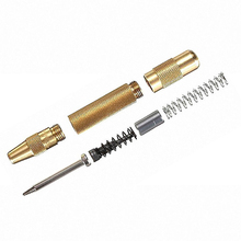 1PC Durable Hot One Size Golden Brass Automatic Center Punch Spring Loaded Chrome Rivet Screw Auto Mark Hole(China)