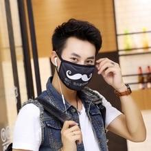 Mustache cartoon mask Fashion casual funny personality men women mascherine Winter warm Anti-bacterial Dust cotton face masks