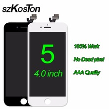 Original SZKOSTON No Dead Pixel LCD Screen For iPhone 5 5C 5S display High Quality touch screen Digitizer Assembly Replacement