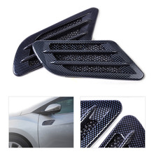 DWCX New Car Side Air Vent Fender Cover Hole Intake Duct Flow Grille Decoration Sticker For VW BMW Ford Audi Chevrolet Kia(China)
