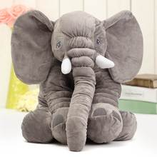 Cartoon 60cm Cute Jumbo Elephant Plush Doll Stuffed Animal Sleeping Back Cushion stuffed Pillow Elephant Doll Baby Doll(China)