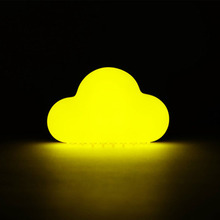 2017 New Novelty Cloud Nightlight Small Night Light Voice Activated Night Light Mini Cloud Light Baby Luminaria Battery Light(China)