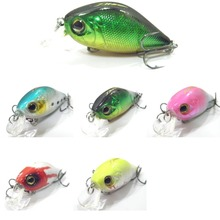 wLure Fishing Lure Hard Bait Shallow Diver VMC Hooks Retail Packaging Tight Wobble 4.4cm 7.1g Crankbait C102
