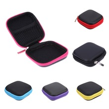 1PC Earphone Wire Storage Box Data Line Cables High End Headphones Container eva case SD Card Holder Box (Without Earphone)(China)