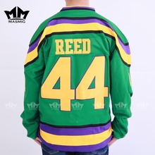 MM MASMIG Mighty Ducks #44 Fulton Reed Movie Hockey Jersey Green For Free Shipping S M L XL XXL XXXL(China)