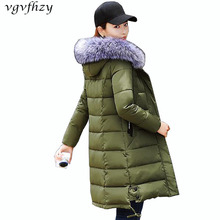 Buy Winter Jacket Women 2017 New Cotton Jacket Long Sleeve Fur Collar Hooded Parka plus size Women Coat Fashion Casual Outerwear LY for $40.99 in AliExpress store