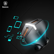 Baseus Quick Charge 3.0 Dual USB Port Car Charger Fast Charging Car Phone Charger 5V 3A USB Car-Charger For Samsung Xiaomi Phone(China)
