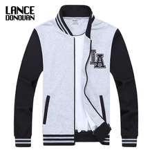 MAX Chest 140CM Baseball Jacket Men 2017 Spring Brand Clothing L-5XL 6XL 7XL 8XL Sweatshirt College patchwork color(China)