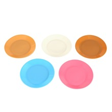 5Pcs Food-grade Plastic Snack Dish Colorful Tableware Saucer Flat Plate Snack Seeds Kitchen Supplies Dishes Plates