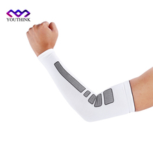 1 Pcs Sports Volleyball Arm Sleeve Cycling Compression UV Arm Warmers Elbow Protector Pads Support For Men Women Sun Protection