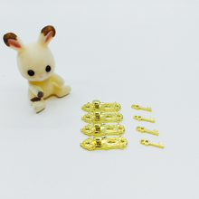 4 Set 1:12 Dollhouse Miniature Metal Hardware Door Lock With Key Play Doll House Furniture Accessories Toy