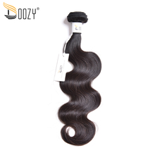 "Doozy unprocessed Brazilian virgin hair body wave 8"" to 28"" one bundle double weft natural color human hair weaving"