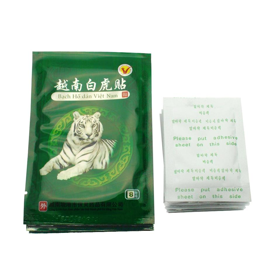 40Pcs White Tiger Balm+10Pcs Kinoki Detox Foot Pad Patch for Foot Care Pain Relief Tens Stress Removl Massager D0020(China)