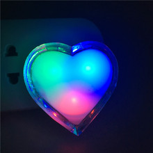 10X Newest 3D Night Led Light Butterfly Heart Apple Carton Shape NightLamp RGB Colorful Lights Energy Saving Home Led In EU US(China)