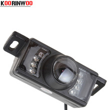 Koorinwoo Car parking camera Front Form Cam 7 Ir Ights Form Automobiles HD CCD Car Rear view Camera Video system car-detector(China)