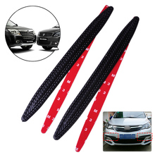 DWCX 2Pcs 33.5cm Black Carbon Fiber Rubber Front Rear Bumper Edge Protector Corner Guard Anti-rub Scratch Sticker Trim for Cars(China)