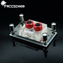 FREEZEMOD CPU Acrylic top water cooling block sprayable liquid block with micro channel for A MD platform AM3+ AM4. A MD-PM3D